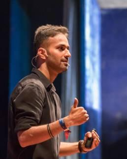 Gautam on stage