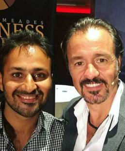 Gautam Khetrapal with Eric Edmeades, Founder of WildFit and Business Freedom Academy