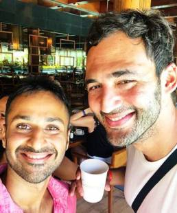 Gautam Khetrapal with Jason Silva, Creator of Shots of Awe, Emmy-nominated host of Brain Games